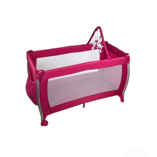 Le lit de voyagePLASTIMYR en aluminium a une barre de jeu en haut et des grilles latérales larges permettent une visibilité totale du bébé.Maroc